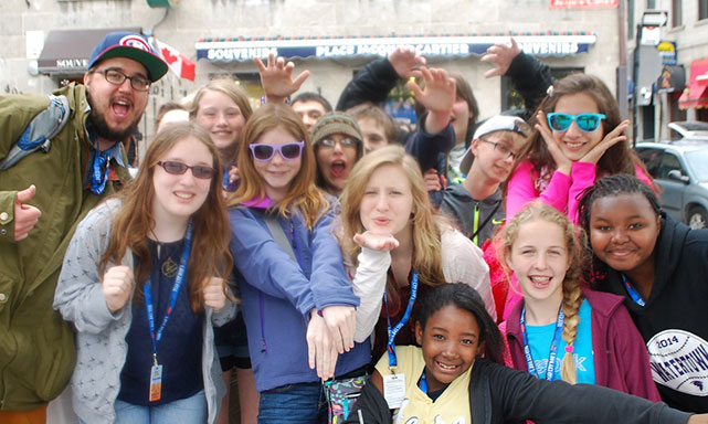 Jumpstreet Tours students on a class trip to Quebec City