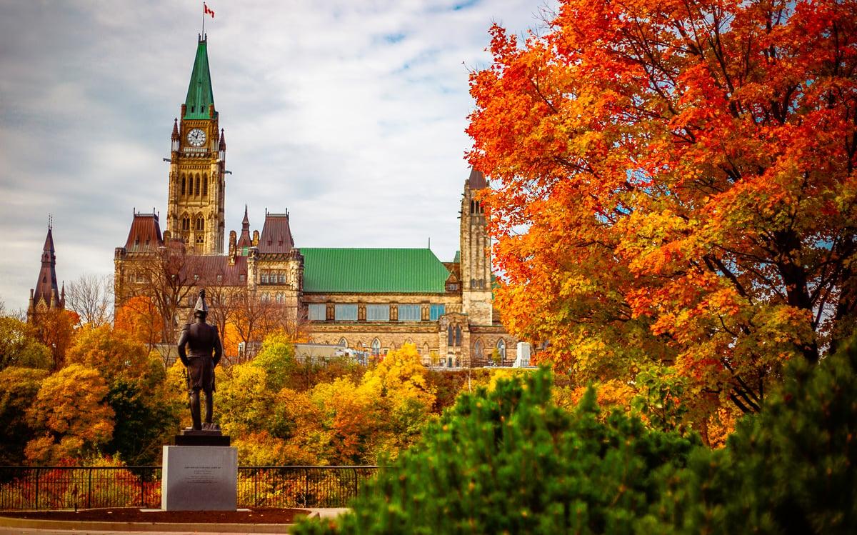 Ottawa Parliament Hill in the Fall