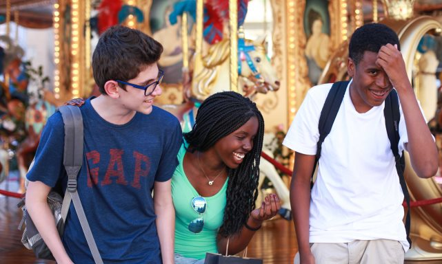 Jumpstreet Tours students on a class trip to France